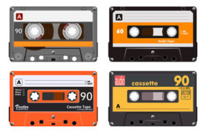 Picture of cassette tapes